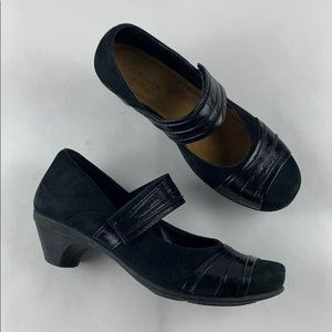 NAOT Black Sueded Mary Jane Low Heel 9 / 40